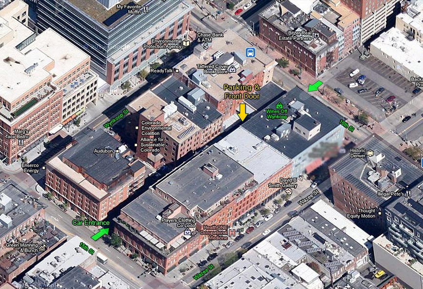 map to wines off wynkoop